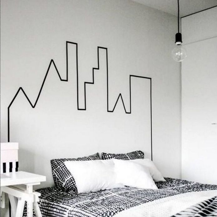 make tape headboard