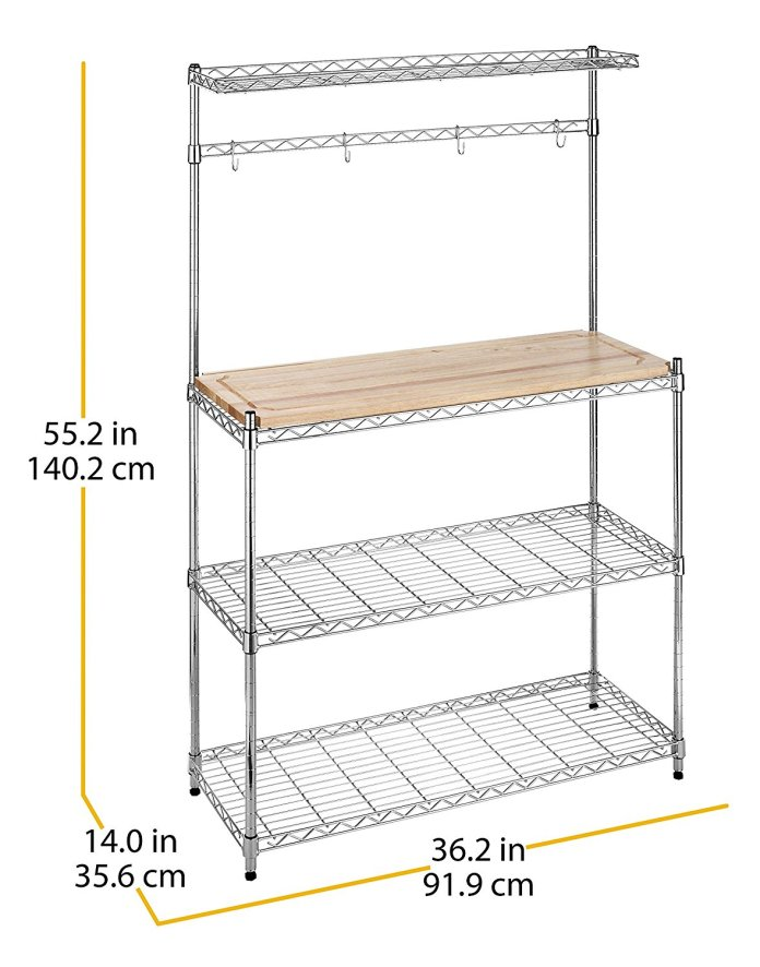 Whitmor 6054 268 Supreme Bakers Rack III simphome com
