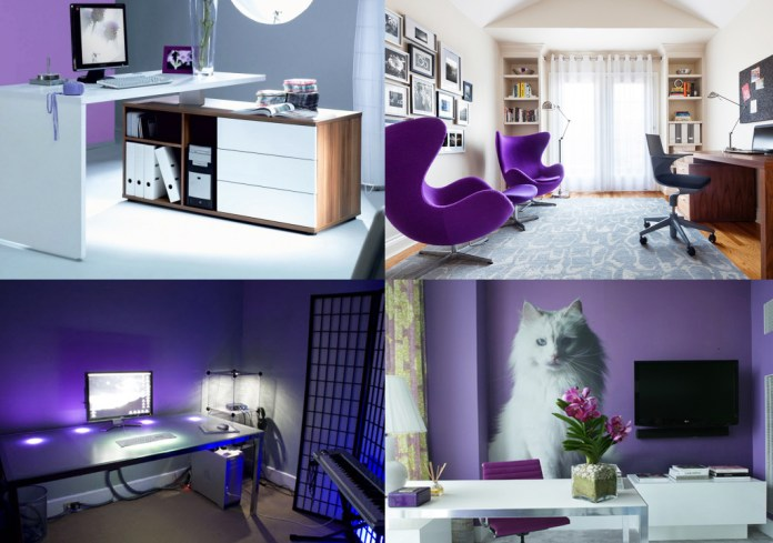 How to work with purple color room Simphome com
