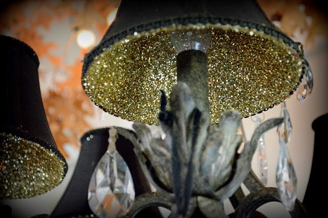 simphome glittered lamp shade