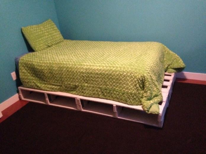 simphome pallet bed frame