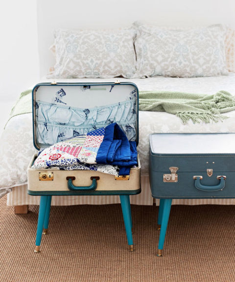simphome suitcase side table