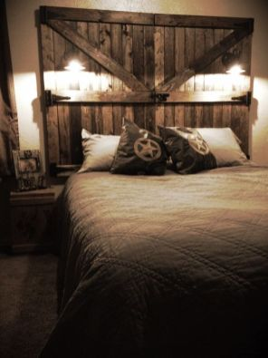 Barn Door Headboard 2 Simphome com