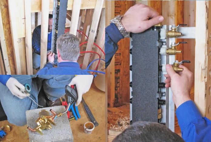 16 DIY Plumbing Work pex system via simphome
