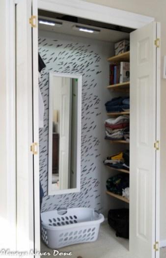 Closet makeover with stencil 4 Simphome com 1