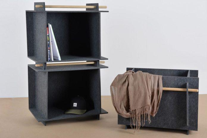 9 German students design flexible furniture collection using felt composite Simphome com
