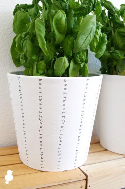 02 DIY Stripe Stamped Herb Pots Basil Green Simphome com