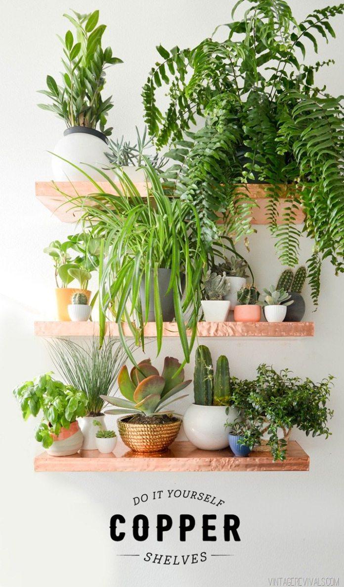 13 Anthro Inspired DIY Copper Shelves Simphome com