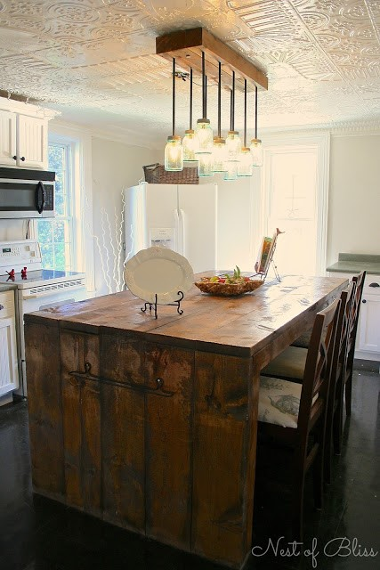 6 A Rustic Kitchen Island idea Simphome com
