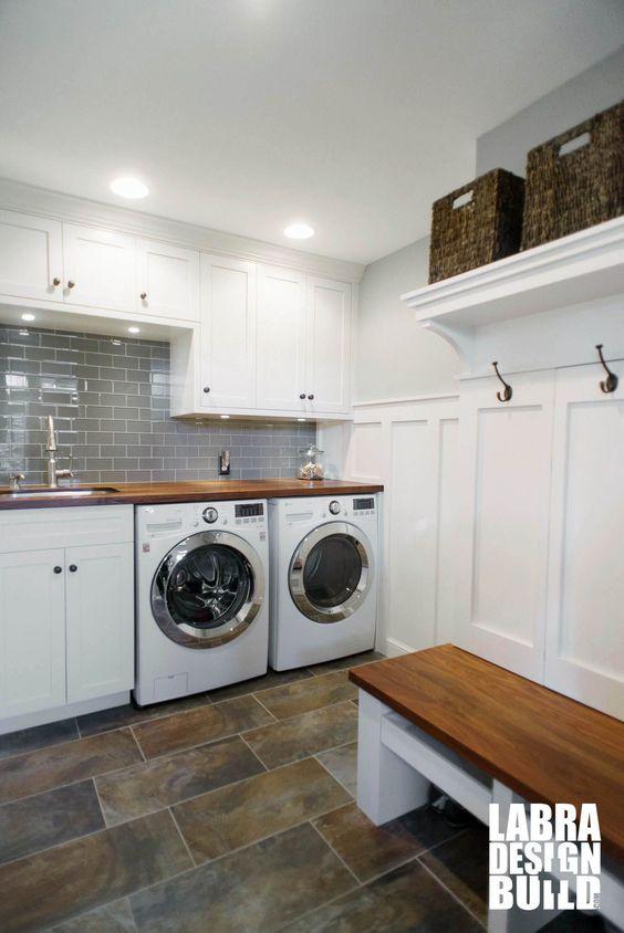64 Small space mudroom laundry remodel in Novi Simphome