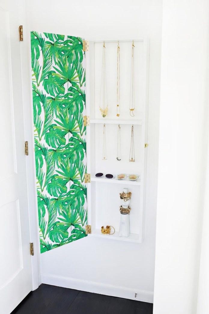 8 Beautiful DIY Jewelry Storage with Mirror Simphome com