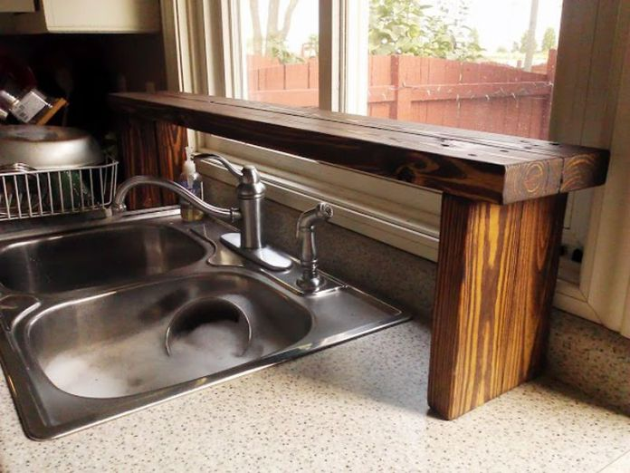 189 Pallet Wood Sink Shelf via simphome