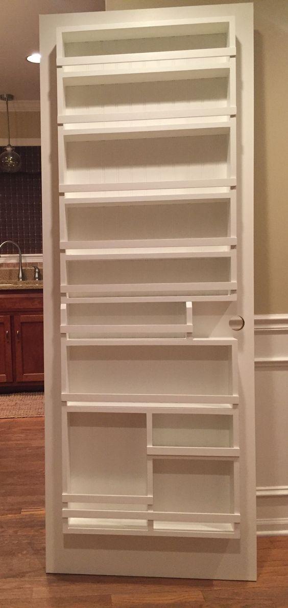 244 DIY Pantry Door Spice Rack 1 via Simphome