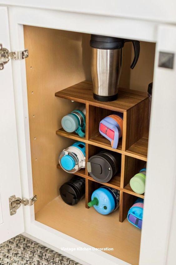 308 A Wooden kitchen cupboard idea via Simphome
