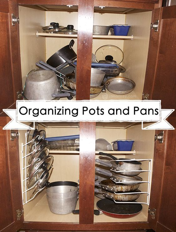 50 ideas to organizing pans and pots via simphome