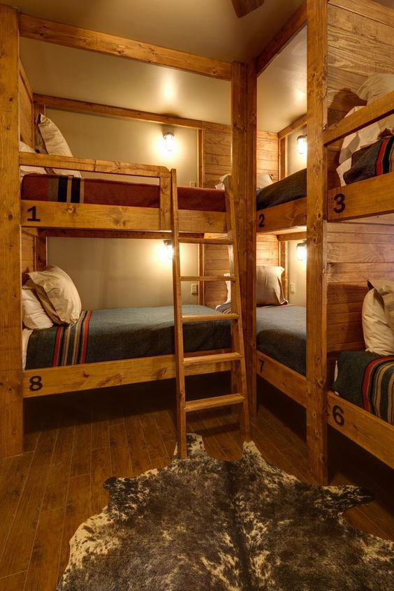 74 Right angle rustic bunks Simphome