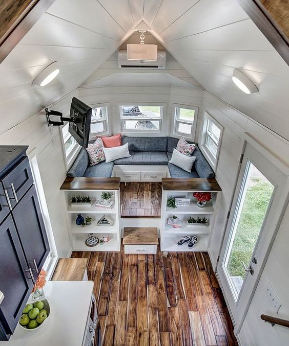 95 Gorgeous blue Nantucket style tiny house Simphome