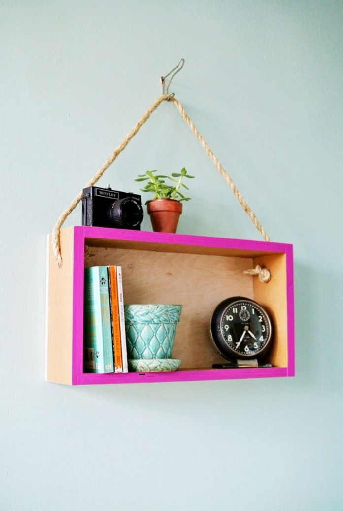5 Hanging Cube Shelf via simphome