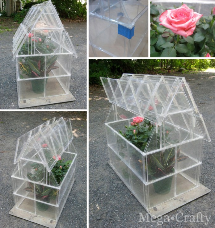 3.Stunning CD Case Greenhouse