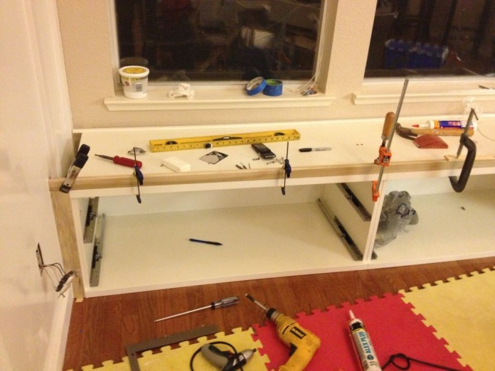 A WINDOW SEAT MADE FROM IKEA STOLMEN via Simphome Process 1