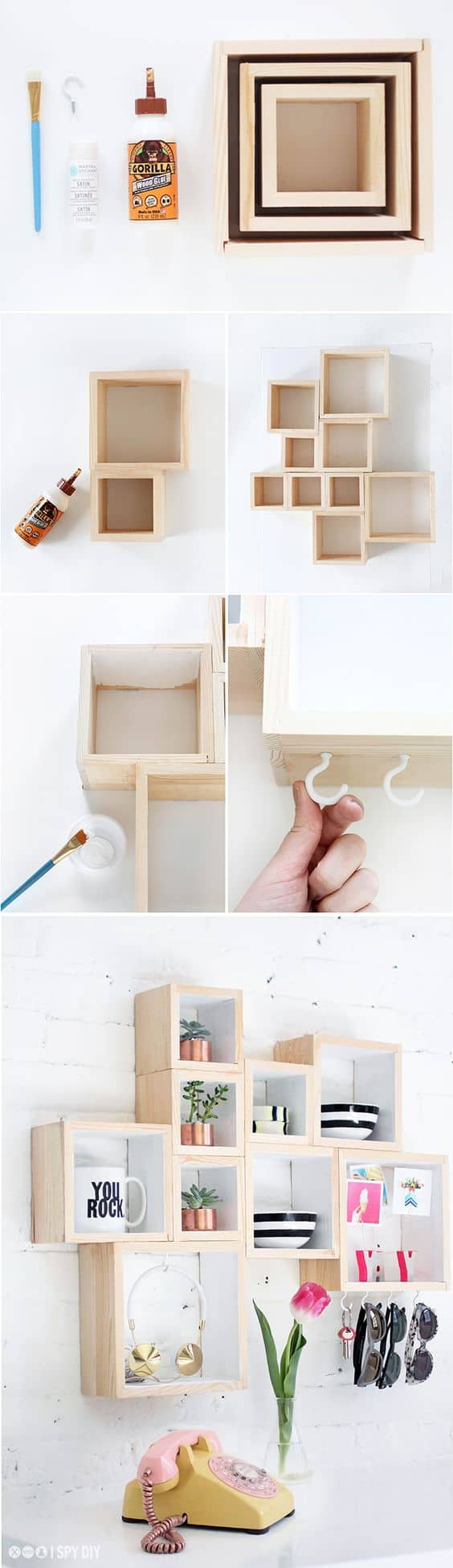 5 boxed shelving DIY via simphome