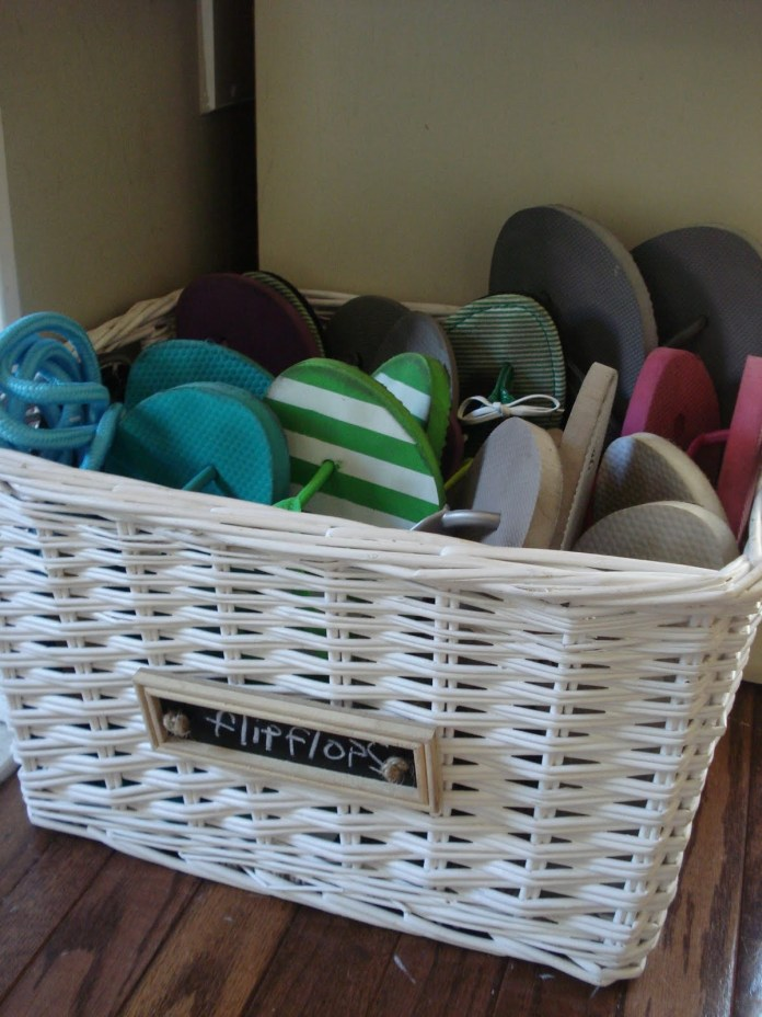 10 Organize Your Footwear with Wicker Baskets via Simphome 1