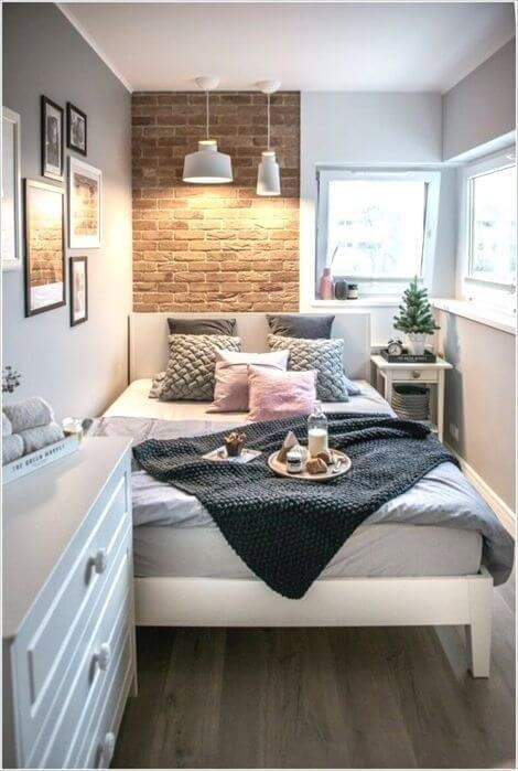 3 Grey Bedroom with a Little bit of Rustic Touch via Simphome