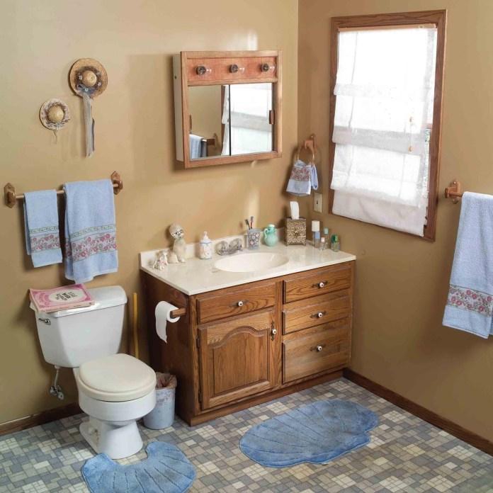 7 Tired Bathroom has Turned into Coastal themed Bathroom via Simphome Before