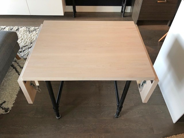 1. Drop Leaf Dining Table via Simphome