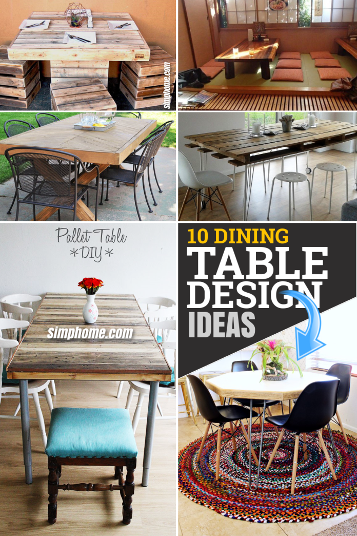 10 Dining Table Design Ideas You can Copy Easily via Simphome Featured Pinterest Image