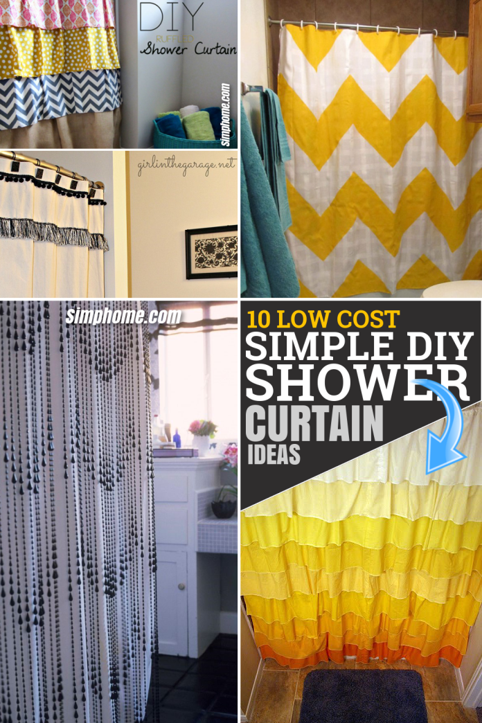 10 Low Cost and Simple DIY Shower Curtain by SIMPHOME.COM Ideas Featured pintretest long