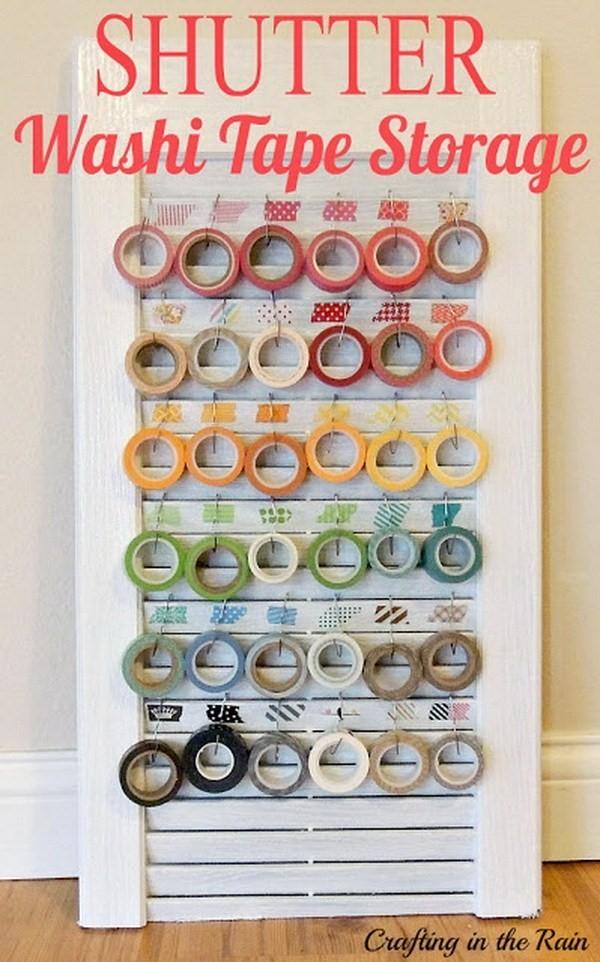 3. Washi Tape Storage via Simphome