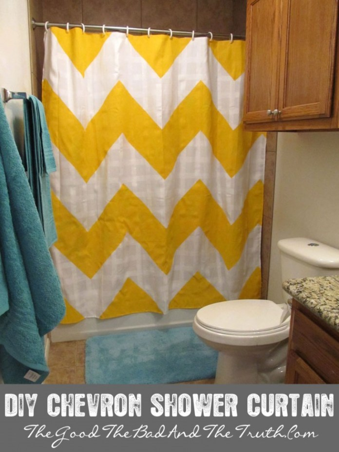 5. Chevron Curtain via Simphome