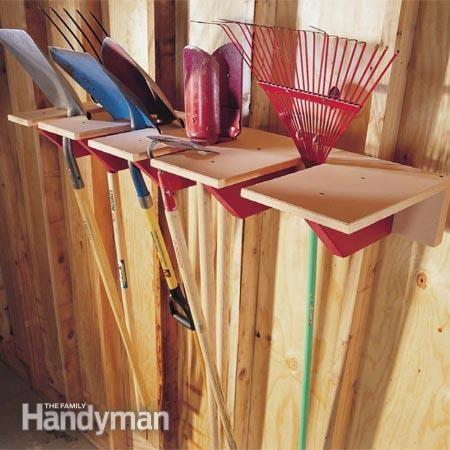 6. Shovel Rack for an Avid Gardener via Simphome