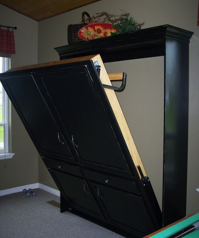 8. A Murphy Bed that Looks Like a Bedroom Cabinet via Simphome