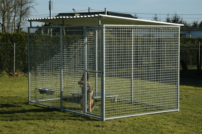 10.simple Dog Kennel with Shade via Simphome.com