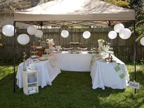 2.A Tent with Foods Under It via SIMPHOME.COM