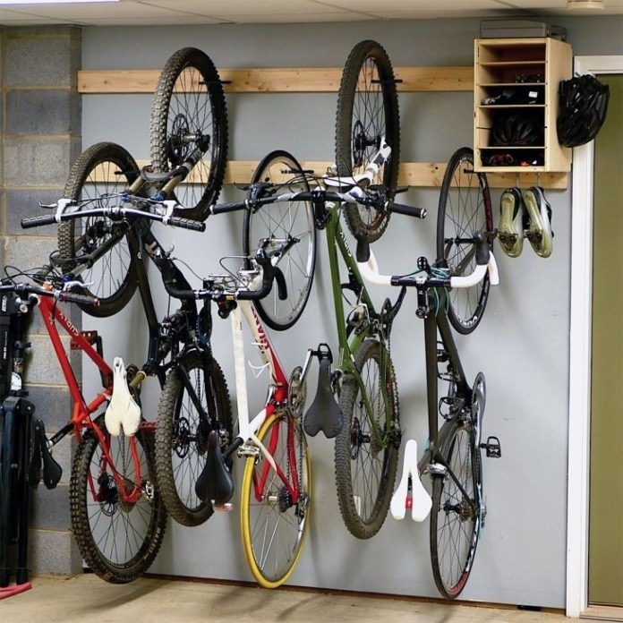 5. Space saving Bicycles Storage Organization via Simphome.com