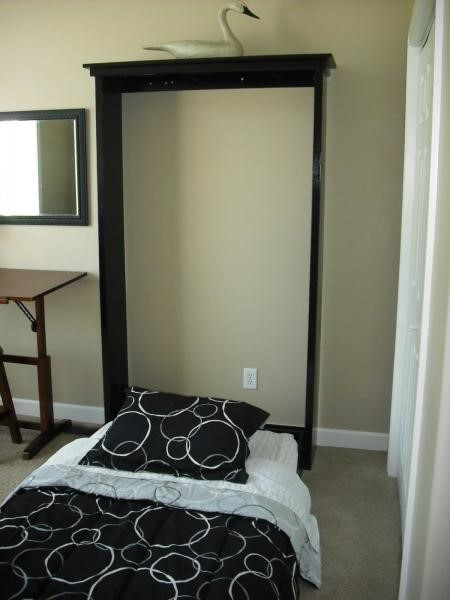 9. DIY Murphy Bed idea via Simphome