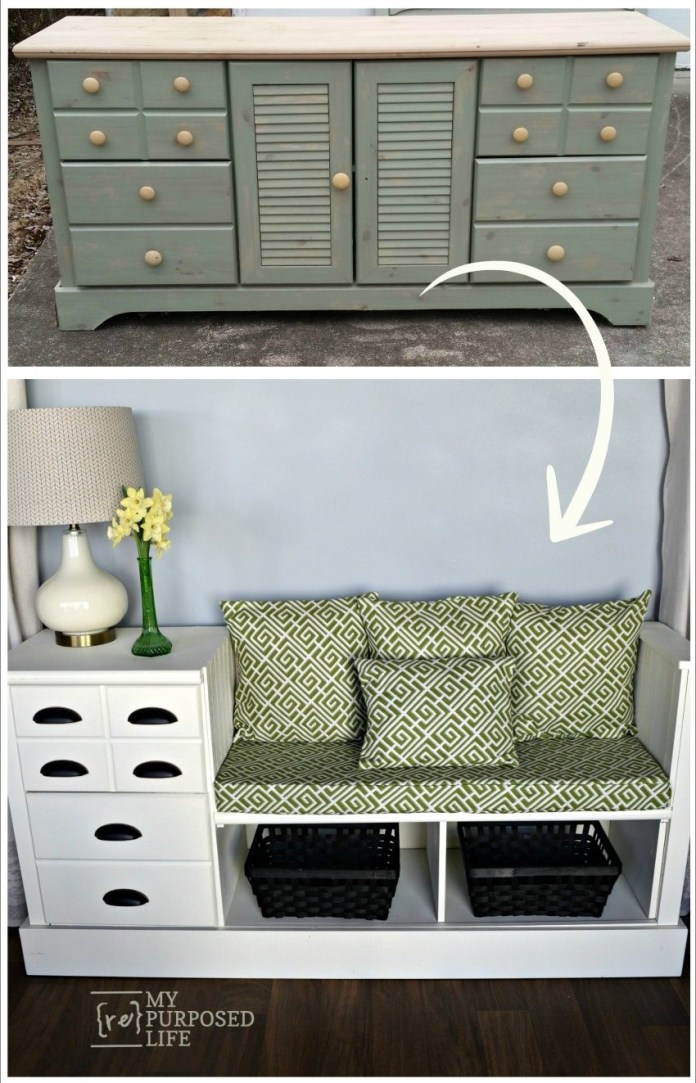 10. SIMPHOME.COM Turn a Dresser into Storage Bench