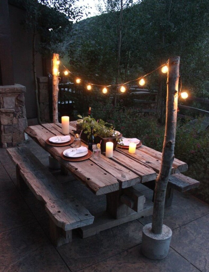 11.SIMPHOME.COM alluring picnic table ideas picnic tables elle home decor intended