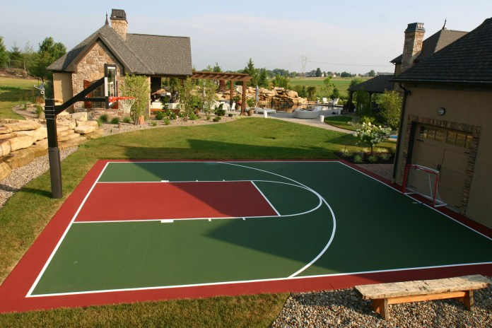 18.SIMPHOME.COM backyard recreation areas can include sport courts