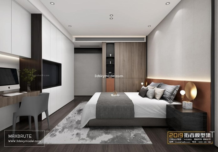 6.SIMPHOME.COM Minimalist Rectangular Master Bedroom