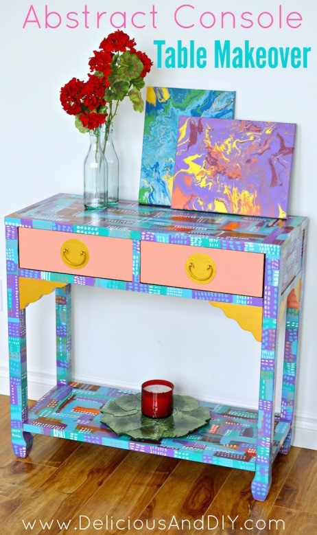 7. SIMPHOME.COM Abstract Console Table