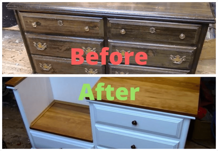 9.SIMPHOME.COM Chest of Drawers has Turned into a Bench with Storage