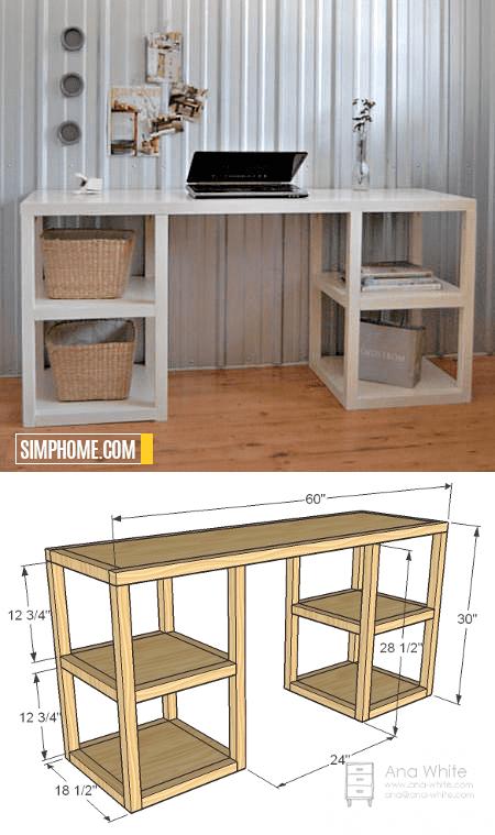 5.SIMPHOME.COM Parson Tower Desk Idea