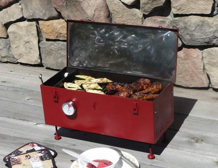 3.Simphome.com Repurposed Tool Box Grill