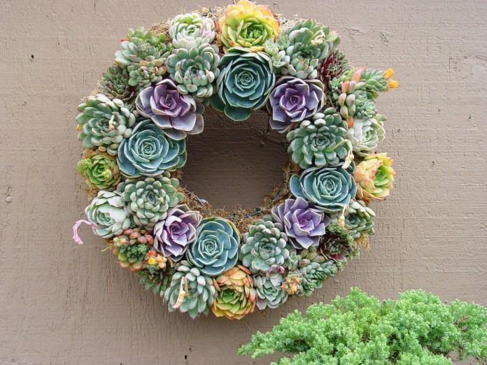 9. Simphome.com Succulent Wreath idea