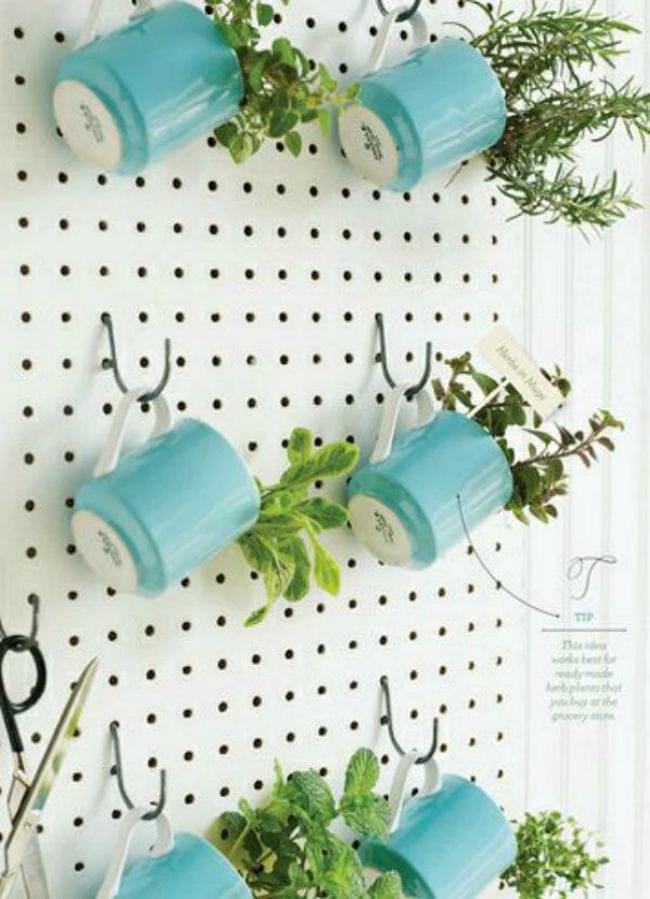 9.Simphome.com Pegboard Herb Garden 2