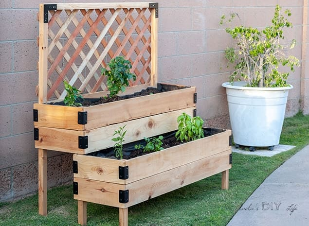 9.Simphome.com Tiered Raised Garden Bed